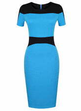 Cotton Blend Patchwork Stretch Dresses for Women