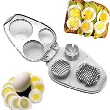 3 in 1 Hard Boiled Egg Slicer Stainless Steel Cutter Food Decor Salad Must Tool