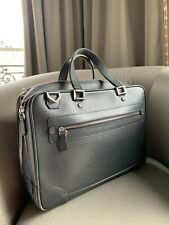 Louis Vuitton Men Briefcase - Grey Taiga Leather - Used but Very Good Condition