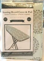 Laura Ashley Signature Series Ironing Board Cover & Pad Green Grey Pattern New