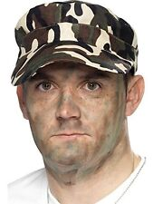 Smiffy's Army Forces Man Camo Cap Fancy Dress Mans Costume Accessories 39700