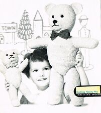 Vintage Teddy Bear and Playball knitting pattern.Laminated copy.