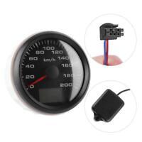 Compteur de Vitesse GPS 85mm 200km/h Indicateur vitesse éTanche pour moto buggy