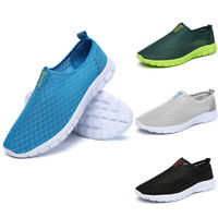 Men Breathable Mesh Slip On Water Shoes Casual Walking Outdoor Flats Sneakers