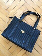 MAISON MOLLERUS SUISSE Handtasche Monogram Shopper Tasche Schwarz Vintage Rare