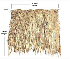 4' x 4' Thatch Panel Mexican Palm Tiki Bar Roof Pool Cabana Hut Commercial Grade