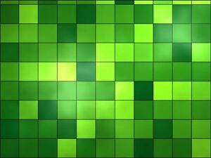 Green squares easy to cut Edible Cake Topper Wafer or Icing Cake Decoration
