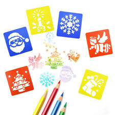 New 6PCS Washable Christmas Stencils For Children New Design Art Painting Crafts