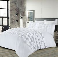 Percilla White Duvet Cover Quilt Cover Set With Pillow Cases