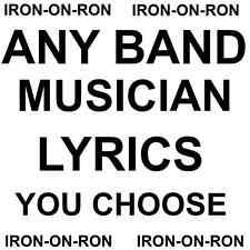 MUSIC/BANDS/MUSICIANS A4 ANY DESIGN IRON ON TRANSFER YOU CHOOSE T SHIRT TRANSFER