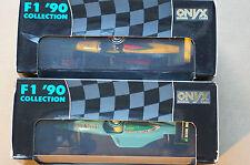 Onyx Formula 1 1990 No 87 and 90 Gugelmin/Suzuki In Ex Original Order Boxed Case