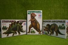 STEGOSAURUS, TRICERATOPS & TYRANNOSAURUS DINOSAUR SET  Tamiya 1/35 Scale kits