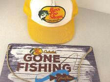 467a4c56b15 Fisherman s LOT Cabela s Gone Fishing Wall Sign + Bass Pro Shops Trucker Hat  Cap