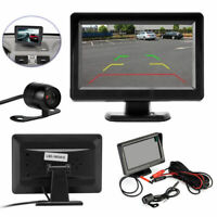 "4.3"" TFT LCD Car Rear View Monitor+ Backup Reverse Parking Camera Waterproof"