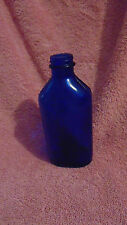 Vintage 7 Inch Cobalt Blue Genuine Phillps Glass Bottle Milk of Magnesium
