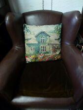 "NEW Temerity Jones Vintage style Cushion & filler British cottage House 17"""