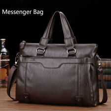 Mens Genuine Leather Business Handbag Briefcase Laptop Shoulder Bag