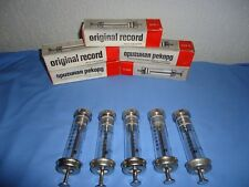 Lot of 5 vintage brand new  glass syringes ORIGINAL RECORD 20 cc with needles