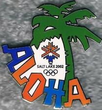Unique 2002 Salt Lake City ALOHA Palm Tree Olympic Games Mark Pin