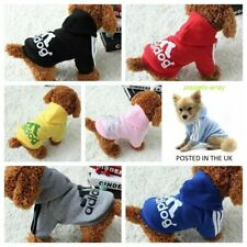More details for puppy tiny small dog comfortable soft adidog print hoodie pet clothes warm coat