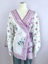 Lolita Jaca St. Barth Multi-colored Cotton Fabiana Kimono Top One Size Fits Most