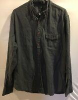 J.Crew Mens XL Gray Lightweight Flannel Long Sleeve Button Down Shirt         K1