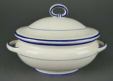 Antique Wedgwood Miniature Childs Creamware Blue Line Lidded Soup Tureen