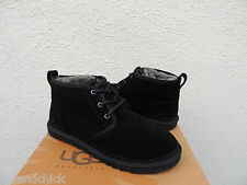 UGG NEUMEL BLACK SUEDE/ SHEEPSKIN DESERT SLIPPER BOOTS, MENS US 10/ EUR 43 ~ NEW
