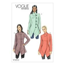 Vogue Sewing Pattern V9212 Women's Misses' Seamed & Collared Jacket