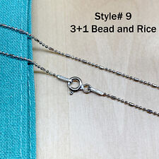Real Silver Unique Jewelry Solid 925 Sterling  00004000 Silver Chain Necklace Made Italy