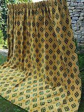 Superbe ancien double rideaux  velours de Gênes - 12652