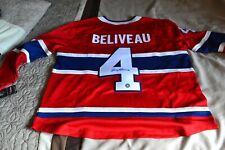 Jean Beliveau Montreal Canadiens Autographed Fanatics Jersey