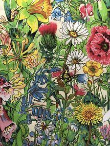 Vintage Lamont Irish Linen Kitchen Tea Towel Floral Flowers Foxglove Bluebells