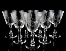 Cambridge 3700-4 Water Goblet Glasses, Set of (7), Polished Cut Rose Design