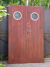 187,5 X 117 cm - Paire d'anciennes portes de garage, dressing, autre