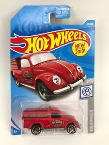 New 2019 Hot Wheels G Case '49 Volkswagen Beetle Pickup In Red! VHTF