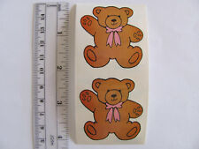 Pair of Vintage Delight Brand Teddy Bear Off the Roll Stickers