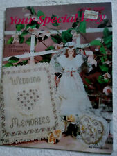 """1991 Leisure Arts Leaflet  """"YOUR SPECIAL DAY""""  Plastic Canvas Pattern Book  #"""