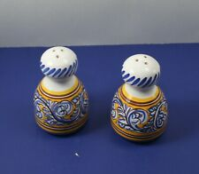 "ESPANA  3 1/2"" SALT AND PEPPER SHAKER ~ HAND PAINTED"