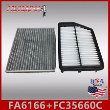 FA6166 FC35660C(CARBON) OEM QUALITY ENGINE & CABIN AIR FILTER: 2014-18 FORTE 2.0