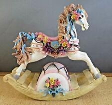 Vintage Wind-Up Music Box Rocking Horse 7
