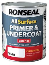 Ronseal All Surface Primer & Undercoat Exterior White Wood & Metal 750ml