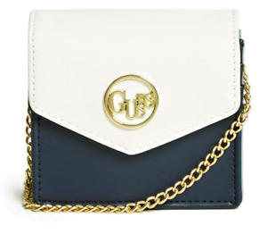 NWT GUESS BLAIRE Mini CROSSBODY HANDBAG Blue Logo Card Case Wallet Bag GENUINE