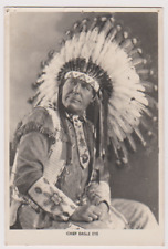 CHIEF EAGLE EYE - INDIAN CHIEF - SIGNED CARD - CHIPPERFIELDS CIRCUS - WAF