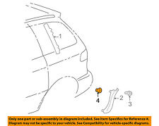 TOYOTA OEM Trunk Lid-License Molding Bolt 9010906361