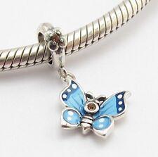 PETITE FLYING BUTTERFLY CHARM Bead Sterling Silver.925 for European Bracelet 734