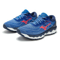 Mizuno Womens Wave Sky 4 Running Shoes Trainers Sneakers Blue Sports Breathable