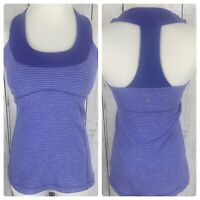 Lululemon Womens Size 6 Fitted Purple Workout Built in Bra Tank Top