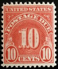 1931 10c Postage Due, Carmine Scott J84 Mint F/VF NH