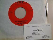 """BAR BOYS:Hit The Road Jack-That's TheSound Of My Heart-U.S. 7"""" 1968 LYAR 101"""